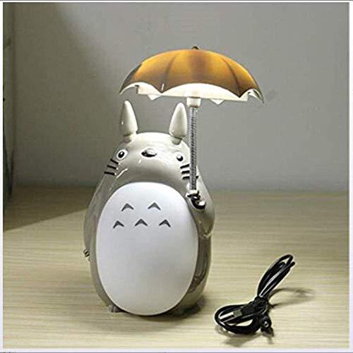 Studio Ghibli Totoro Lamp My Neighbor Totoro Night Light LED Totoro Light Lampade da Tavolo da Lettura per scrivania Natale Regalo per Bambini Decorazioni per la casa Artigianato in Resina (Bianco)