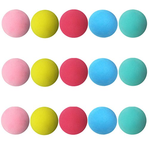 Aoneky Mini-Softbälle-Set, Schaumball & Babyball & Spielball, für Baby frühe Ausbildung, 15 x Schaumstoffbälle, 6cm Durchmesser, fünf Farben