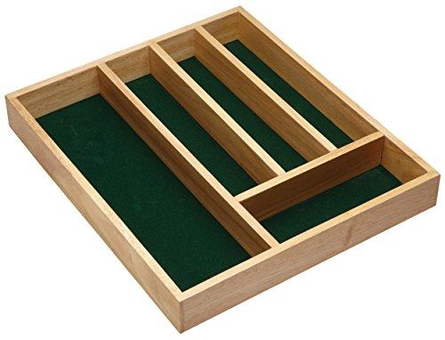 Kitchen Craft Besteckkasten mit 5 Fächern, aus Holz, 36 x 31 x 5cm