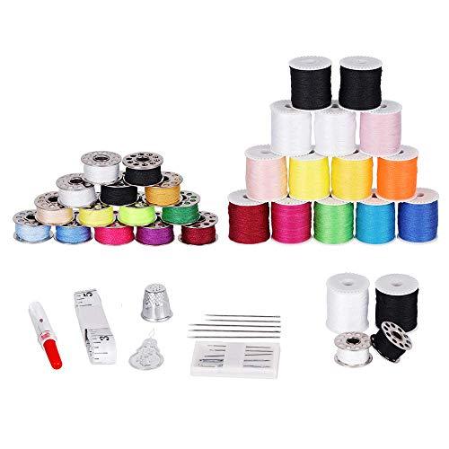 HAITRAL 32-teilig Nähgarn Set Nähset Universal Polyester Nähmaschinengarn Mix-Farben in 16 Farben