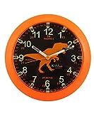 Kiddus Ki50118 Dino FR - Orologio Pedagogico da parete analogico per imparare l'orario con il nostro semplice sistema Time Teacher, esercizi inclusi