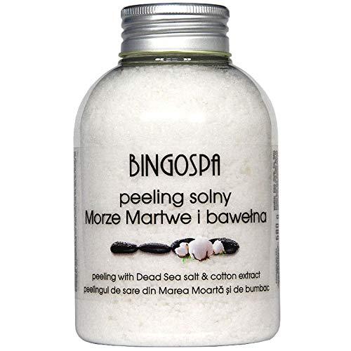 BINGOSPA Peeling Salz Aus Dem Toten Meer Mit Baumwollextrakt - 580g