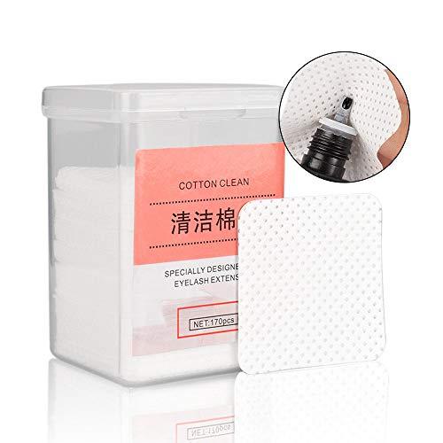 170pcs coton tampons outil de suppression non-tissé pour l'extension de cils colle et vernis à ongles en supprimant les tampons de nettoyage d'essuyage