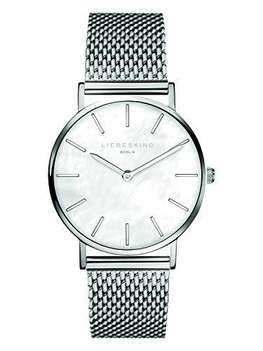 Liebeskind Berlin Damen Analog Quarz Armbanduhr mit Edelstahlarmband LT-0144-MQ