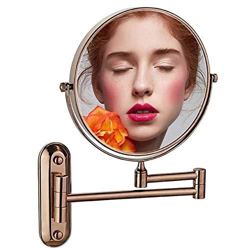 HGXC Espejo cosmético de Viaje, Espejo de Maquillaje Redondo, Espejo de Maquillaje de Doble Cara retráctil de rotación 360, para Maquillaje, Afeitado