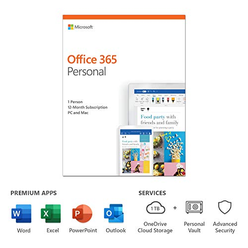 Microsoft SW RET OFFICE 365 PERSONAL/ENG 1Y P4 QQ2-00790 MS