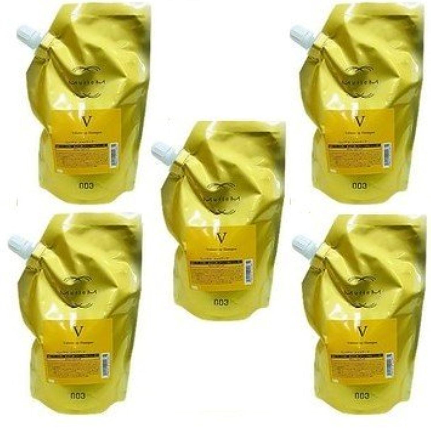 然とした現代気性【X5個セット】 ナンバースリー ミュリアム ゴールド シャンプー V 500ml 詰替え用