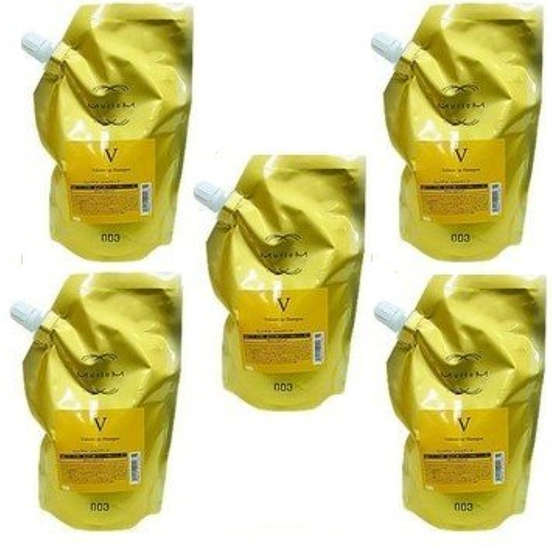 【X5個セット】 ナンバースリー ミュリアム ゴールド シャンプー V 500ml 詰替え用