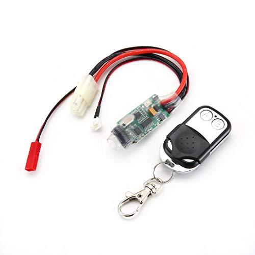 Swiftswan Control remoto inalámbrico del cabrestante del coche de la correa eslabonada receptor compatible para el coche RC