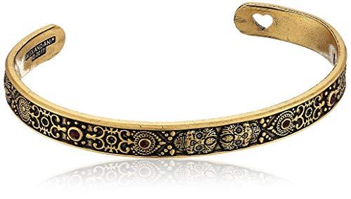Alex and Ani Women's Calavera Cuff Bracelet, Rafaelian Gold
