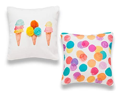 Sancarlos Ice Cream Pack de Fundas de cojín, Multicolor, 35x35 cm, 2
