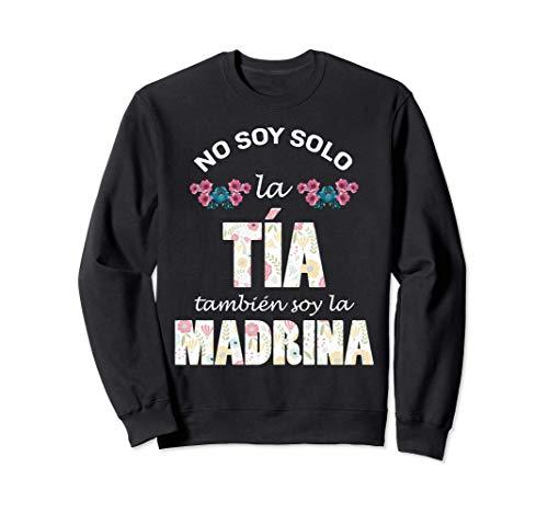 Regalo para Madrina - Camiseta de Tia y Madrina de Bautizo Sudadera