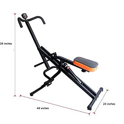 Total Crunch Hydraulic Resistance Core Legs Uppper Body and Ab Exercise Riding Machine