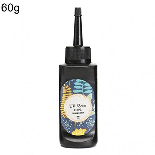 Momangel - Colle de résine UV, colle forte transparente pour œuvres d'art faites à la main, fabrication de bijoux, moule en résine 60g transparent