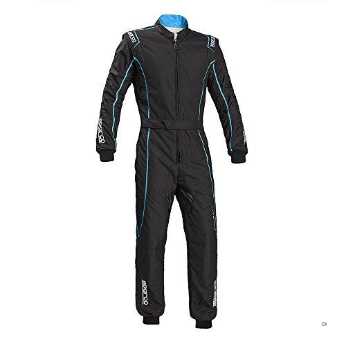 Sparco 002334NRCE120 Mono para Karting, Negro/Azul, 120