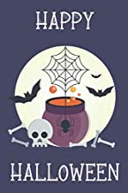 Lined Journal: Halloween Gift for Writing Notes - Happy Halloween (Cauldron, Spider's Web, Spider, Skeleton, Bones)