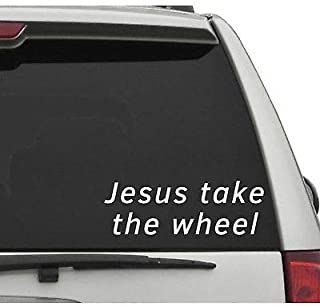 Yilooom Jesus Take The Wheel Decal Funny Car Sticker Bumper Sticker Tailgate Car Truck