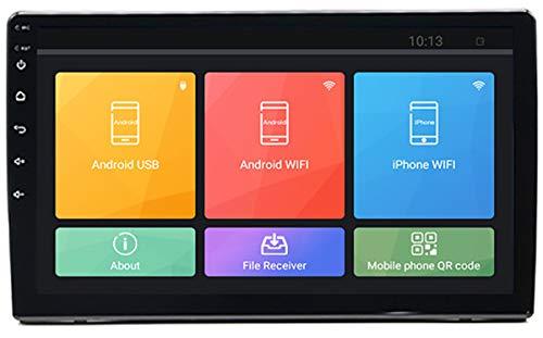 ZHBD Android 8.1 Coche Stereo, Pantalla Táctil con Capacitación De 10 Pulgadas, Reproductor USB De Bluetooth De Navegación GPS, Enlace De Espejo iOS/Android, 1G DDR3 + 16G NAND Memory Flash