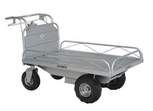 """Vestil OROAD-400 Off-Road Traction Drive Powered Cart, 600 lbs Capacity, 72"""" Length, 33-1/2"""" Width, 37-3/4"""" Height"""