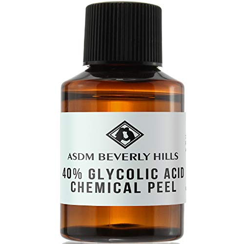 ASDM Beverly Hills Glycolic Acid 40% Chemical Peel Treatment For Unisex Adults, Clear, Unscented, 1 Ounce 30 Milliliter- 1 PC