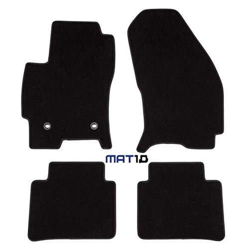 MAT10 - Black-Line: Ford Mondeo Fließheck, Stufenheck y Turnier Año de construcción 2000 – 10 – 2007 – 03 Auto alfombras Alfombrillas Dilour Nadelfilz 4 Piezas Negro Passform Garantizada