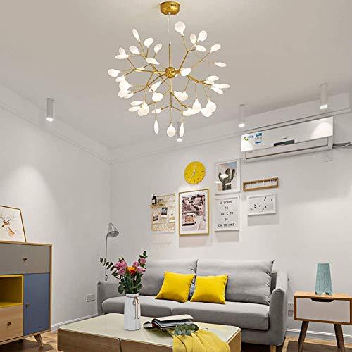 CSD Lámpara moderna LED de la lámpara del oro elegante de la lámpara Decoración Rama de la luciérnaga de techo Lámpara de araña