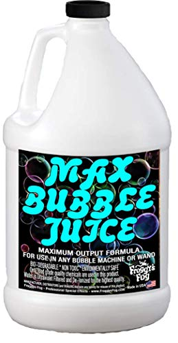 Froggys Fog - 1 Gallon - MAX Bubble Juice Fluid - 10x the Bubbles from Standard Machines