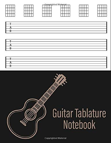 Guitar Tablature Notebook: Pretty guitar tab book for girls and kids - Blank Musical sheet Notebook For Composing Guitar Music   Gift For Musicians, Students and Teachers