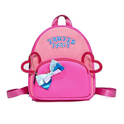 Nenka Mini zaino per la scuola per bambini, con motivo animale, per bambini da 2 a 6 anni, Colore: rosa., S