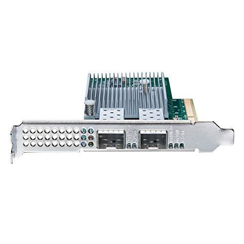 10 GB PCI-E NIC Netzwerkkarte, Dual SFP+ Port, PCI Express Ethernet LAN-Adapter unterstützt Windows Server/Windows/Linux/ESX, vergleichbar mit Intel X710-DA2