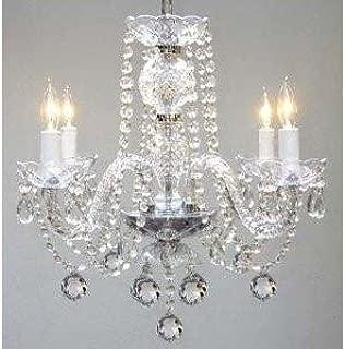 Murano Venetian Style All Crystal Chandelier H17