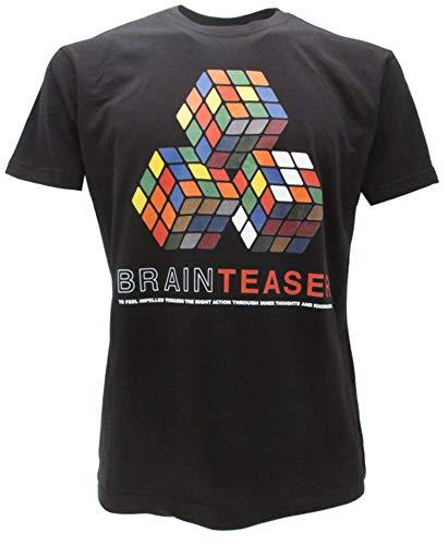 Sabor SRL Camiseta original de Rubik Cubo de Rubik con diseño de cubo de Rubik, color negro, para niños