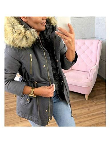 SHANGYI herfst en winter vrouwen mantel met kraag capuchon katoenen jas winterjas dames korte mantel basic coat