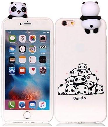 HopMore Compatible pour Coque iPhone 6S Plus/iPhone 6 Plus Silicone Souple 3D Design Motif Drôle Mignonne Etui Étui Antichoc Mince Fine Slim Case ...
