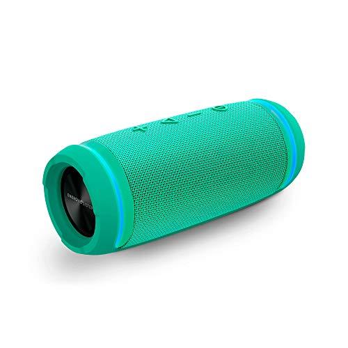 Energy Urban Box 4 BassTube - Altavoz (12 W, Experiencia del Sonido 360, TWS, Resistente al Agua), Color Jade