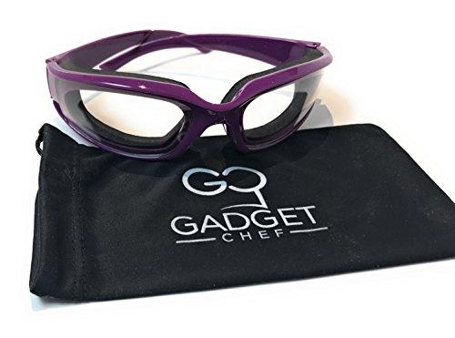 Onion Goggles Tear Free - Anti Fog Kitchen Eye Protection Glasses (Purple) Includes Free Micro Fiber Case