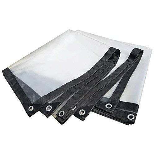 Gcxzb Lona Impermeable Carpa de protección Solar Transparente de Color del Lienzo de Tela Impermeable Cubierta de la Lluvia Varios tamaños (Tamaño: 2x4m) (Size : 5x6m)