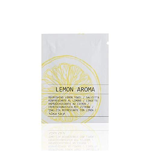 100 bolsitas de toallitas refrescantes de limón Travel Care desechables para hoteles B&B
