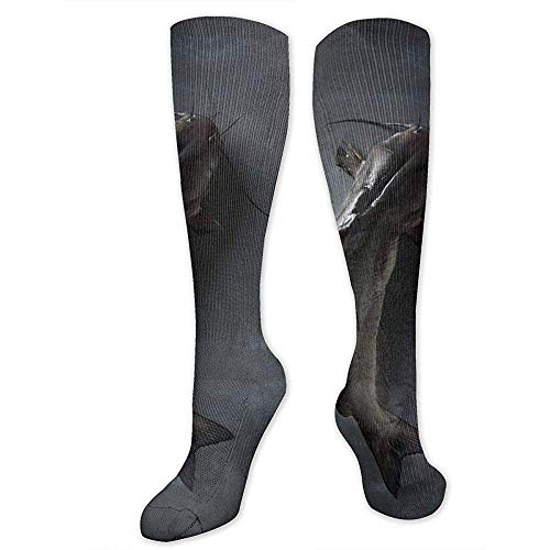 zzzswbl Lange Socken Catfish Sports Athletic Fashion Kompressionssport Crew Tube Socks Schenkelhohe Strümpfe Lässige Socken