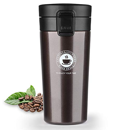 HASAGEI Coffee Cup Travel Mug Insulated Water Bottle Hot and Cold Drink Cup...