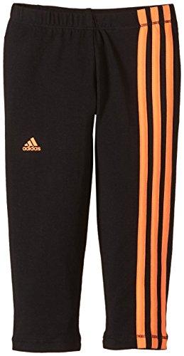 adidas Mädchen Sporthose Essentials 3/4 Tights, Black/Flash Orange s15, 164, S21179