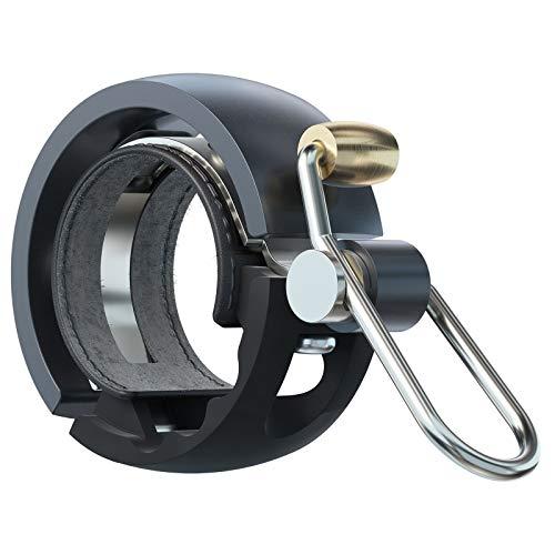 Knog Fahrradklingel Oi Luxe Small, 22,2 mm, Schwarz - Grau, 1212KN