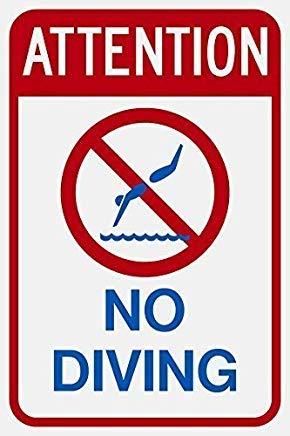 Warnschild Aufschrift Attention Diving
