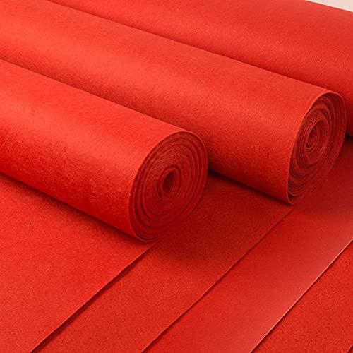 LXHONG Alfombra para Eventos, Antideslizante No Se Desvanece Una Vez 1,5 Mm Alfombra Roja para El Matrimonio Bienvenidos La Tienda Abrió Disponible por 0.5-1 Días (Color : Red, Size : 2x100m)
