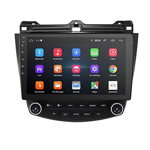 Amimilili Android 8.0 Car Radio Multimedia Player For Honda Accord 7 2003-2007 Navigation GPS 2 din FM/Steering Wheel Control/Mirror Link/Bluetooth Hands-Free Calling,8 cores 4G+WIFI:4+64G
