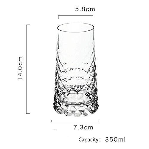 Transparante loodvrije diamant pul bier thuis whisky wodka glaswerk bar persoonlijkheid wijnglas vrienden, B lili (Color : B)