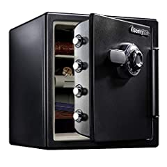 Fireproof safe is UL Classified to endure 1 hour at 1700?F and keep interior temperatures safe for irreplaceable documents, valuables, DVDs, and USBs; ETL Verified to withstand a 15 foot fall during a fire and remain closed Waterproof safe is ETL Ver...