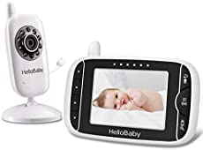 Video Baby Monitor with Camera and Audio | Keep Babies Nursery with Night Vision, Talk Back, Room Temperature, Lullabies, 960ft Range and Long Battery Life