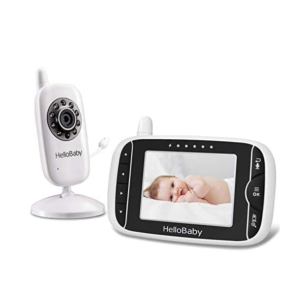 Video Baby Monitor with Camera and Audio | Keep Babies Nursery with Night Vision,...