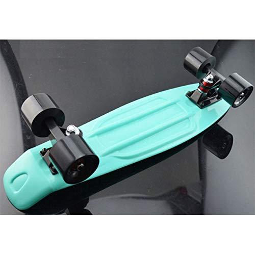 SXDQSZ SkateboardSkateboard Mini Cruiser Board Retro Boy Mädchen Skate Board Komplette Penny Style, Mint